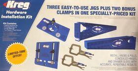 Pachet promotional sabloane Kreg pentru montare balamale, sertare si manere, image 1