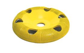 "Disc slefuire 4""X 5/8 (101,6 mm X 15,87mm) fata rotunda tor cu gauri - fin, image 1"