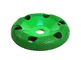 """Disc slefuire 4""""X 5/8 (101,6 mm X 15,87mm) fata rotunda tor cu gauri - aspru, image 1"""