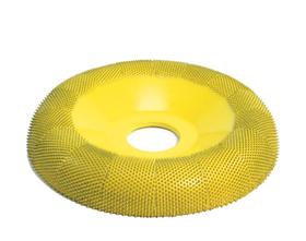 "Disc slefuire 4""X 7/8 (101,6mm X 22,23 mm)  fata rotunda tor - granulatie fina, image 1"
