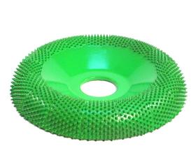 "Disc slefuire 4""X 7/8 (101,6mm X 22,23 mm)  fata rotunda tor - aspru, image 1"